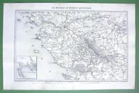 "1846 ANTIQUE ORIGINAL MAP - FRANCE Nantes & Environs 10 x 15"" (25 x 38 cm)"
