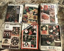 New ListingYour Choice of Christmas Sewing Patterns Decorations Tabletop More Uncut cond.