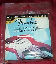 Fender Electric Guitar Strings Full Set Nickelplated Steel Super Bullets 3250L