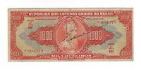 1000 Cruzeiros Brasilien 1949 C104 / P.149 - Brazil Rare Hand Signed Banknote