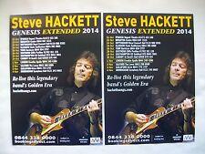 "STEVE HACKETT Live ""Genesis Extended"" 2014 UK Tour. Promo tour flyers x 2 MINT"