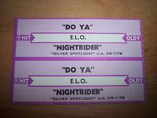 "2 ELO Electric Light Orchestra Do Ya (p) Jukebox Strip CD 7"" 45RPM Records"