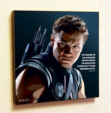 Hawkeye Marvel Avengers Framed Canvas Poster Print Gloss Painting Comics