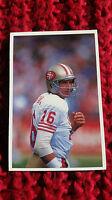 NFL : JOE MONTANA SF 49ers 1991 QUESTION OF SPORT QOS QS trade card