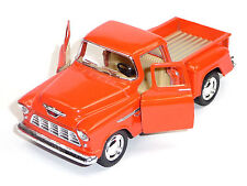Sammlermodell 1955 Chevrolet 3100 Pick-Up 1:32 Stepside orange KINSMART Neuware
