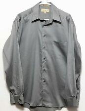 Croft & Barrow Men's Gray Sateen Cotton Polyester Dress Shirt - 15 1/2 SL 34/35