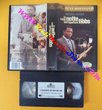 VHS film LA CALDA NOTTE DELL'ISPETTORE TIBBS 2000 MGM Poitier (F106) no dvd