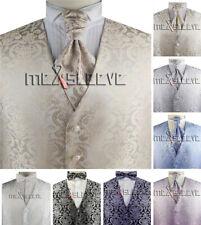 Free Shipping Romantic Paisley Tailored  Men's Microfiber Tuxedo Waistcoat 3pcs