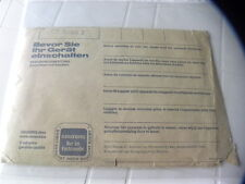 Grundig CF 5000 Du propriétaire Manual Operating Instructions Instructions
