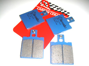 4 Front Brake Pads BREMBO Blue 07BB0106 Motorcycle Guzzi License Plate 750 1992