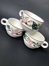 Villeroy & Boch Palermo China tea cups Lot of Three 9Y1059 Pink Morning Glory