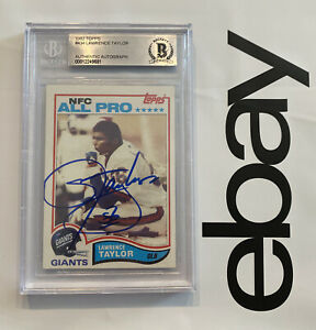 Lawrence Taylor AUTOGRAPHED ROOKIE BGS RARE Collector Card New York 1982 #434