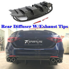 Carbon Fiber Rear Bumper Diffuser Lip Fit For Alfa Romeo Giulia Base 2017-2020