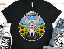Sphynx Cat Hairless Sunflower Lover Gildan Shirt Graphic Tee Unisex T-Shirt 2966