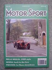 Motor Sport (June 1989) Senna wins in Imola & Monaco, Daihatsu Charade GTti test