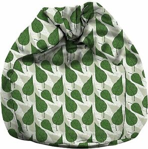 Printed Canvas Chair Sofa Cover Indoor/Outdoor Game Seat Bean Bag Lazy Lounger