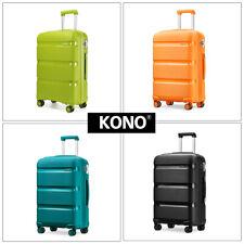 KONO Polypropylene Hand Cabin Luggage Hardshell Suitcase Trolley Travel Case