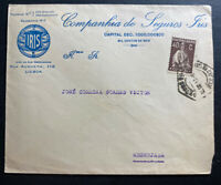 1924 Lisbon Portugal Iris Insurance Advertising Cover To Messejana
