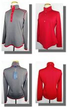 New Women's Cutter & Buck Reversible Red/Charcoal 1/2 Snap LS Pullover M NWT