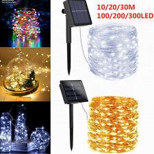100-300 LED Lichterkette Solar Lichterkette Außen Garten Party Deko Beleuchtung