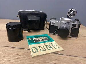 Rare 35mm camera Kiev 4M Olympic (Contax Copy) & lens Helios 103 & viewfinder