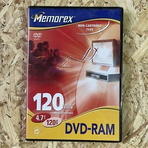 Memorex DVD RAM Recordable Disc. 120 Min. 4.7 GB. Professional Recordable Dvd.