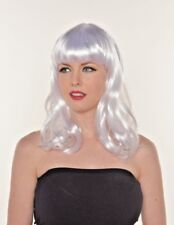 Halloween Animate Cosplay Silver White Shoulder Wig Wavy H0505