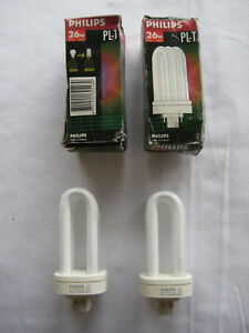 2 Philips 26w 830 4pins PL-T Kompacktleuchtstofflampe