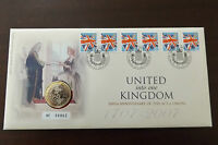 GB QEII  PNC COIN COVER 2007 THE ACT OF UNION 1707 £2 ROYAL MINT/MAIL B/UNC