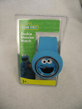 BNWT Boys or Girls Blue Silicone Feel Licenced Cookie Monster Slap Wrist Watch