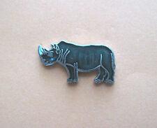 Rhinoceros Rhino - hat pin , lapel pin , tie tac , Gift Boxed