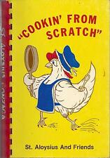 *ST LOUIS MO 1986 ST ALOYSIUS CATHOLIC SCHOOL PTO COOK BOOK *COOKIN FROM SCRATCH