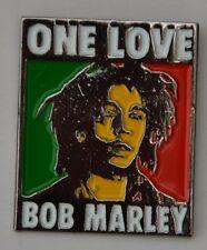 Bob Marley One Love Jamaican Reggae Quality Enamel Lapel Pin Badge