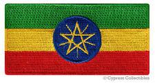 ETHIOPIA NATIONAL FLAG PATCH ETHIOPIAN iron-on EMBROIDERED SOUVENIR APPLIQUE new