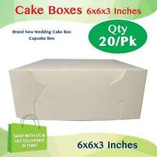 CAKE BOX 6x6x3 Inches Qty 20 Pack Brand New - Wedding Cake Box - Cupcake Box