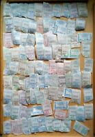 101 billetes-tickets de autobús Rusia Siberia region