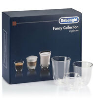 Delonghi Cups Coffee Cappuccino Milk Glass Thermal Borosilicate Double Wall