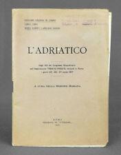 WW1. Prima guerra mondiale. Associazione Trento-Trieste. L'Adriatico, 1917