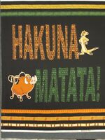 "Lion King by Disney Hakuna Matata Fabric Panel by Camelot Fabrics 44"" x 36"""