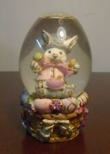 Easter Bunny Snow Globe 60mm Water Ball Rabbit Egg