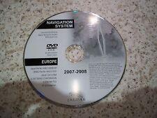 JAGUAR 2007-2008 SAT NAV DISC SATELLITE NAVIGATION DVD ROM FREE POSTAGE EUROPE