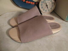 FREE PEOPLE wood leather slide sandal with rubber sole US size 37 NWOB