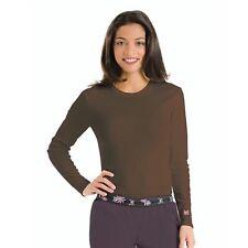 Urbane 9535 Womens U Logo Tee Long Sleeves Uniform Tee Brown Size Large