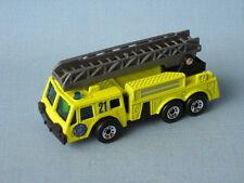 Matchbox Ladder Fire Engine Amarillo Unidad 21 Rescate Juguete Camión Modelo