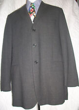 BROOKS BROTHERS BLACK SMOOTH 3 Button Wool Blend Blazer 42 L Made in Italy *EUC*