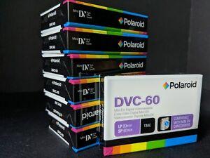 DVC 60 Polaroid Mini Dv Digital Videocassette (7 tapes new in package)