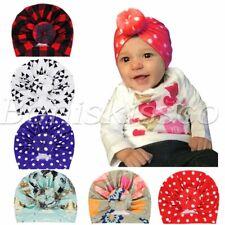 Cute Newborn Baby Toddlers Polka Dot Hats Knot Turban Headbands Headwrap 6pc Set
