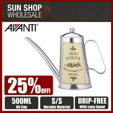 100% Genuine! AVANTI 500ml Veneto Decorative Oil Can Round! RRP $39.95!
