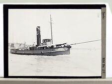 Glass Negative Ship - Glas Dia Foto - Schiff Schlepper Dominion (Lot-N-41