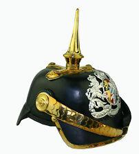 Pickelhaube Tschako Königreich Bayern General  Kaiserreich Leder Helm Larp L125